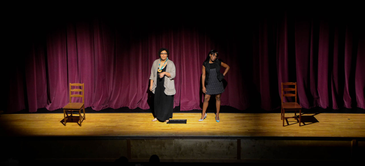 Performance of Single Black Woman by Lisa Thompson. Image from the Carver Center in Austin, Texas